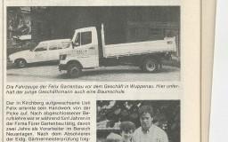 Zeitungsartikel Gründung Felix Gartenbau AG